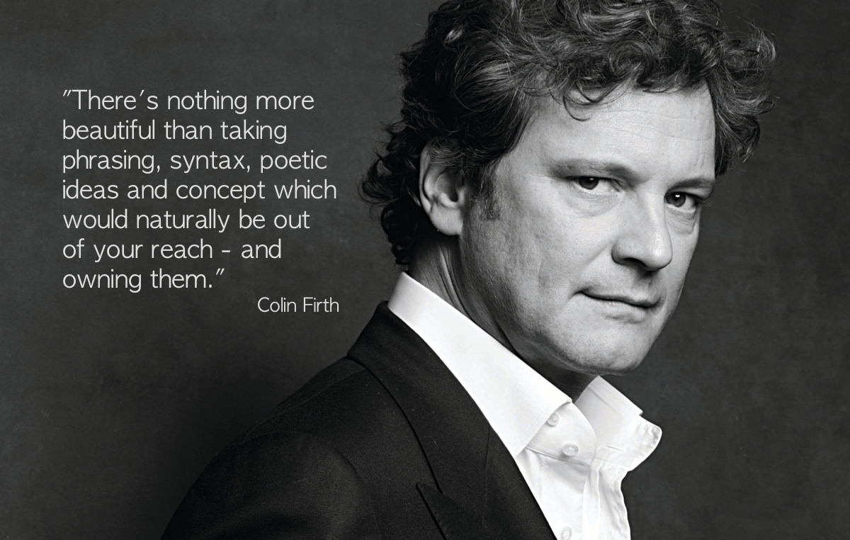 """Colin Firth – """"There's nothing more beautiful …"""""""