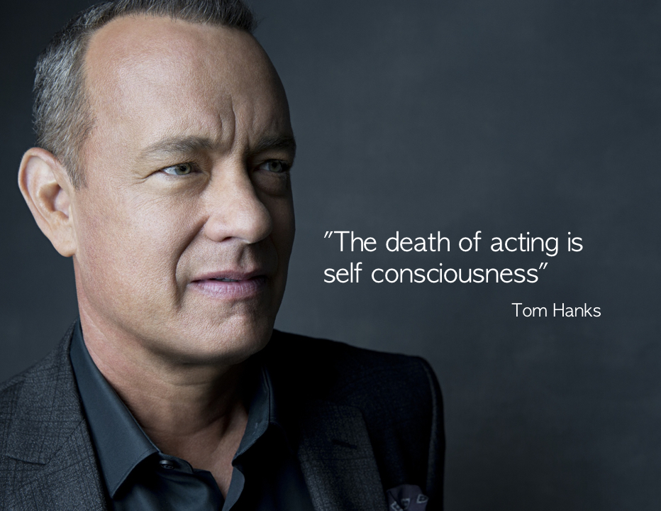 "Tom Hanks: ""The death of acting …"""