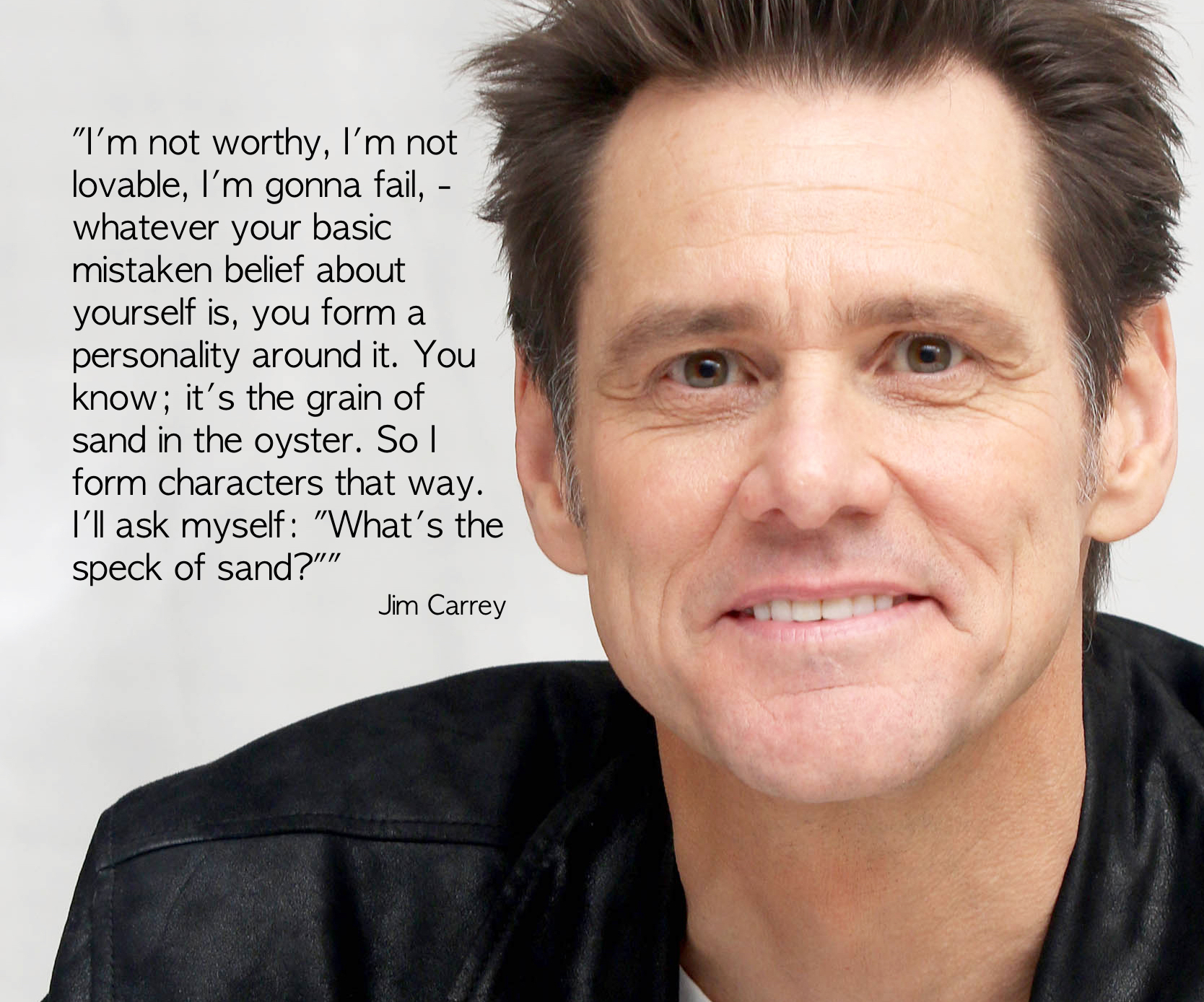 "Jim Carrey – ""I'm not worthy, I'm not lovable …"""