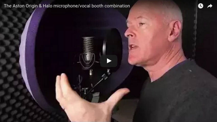 Aston Origin microphone & Halo vocal booth